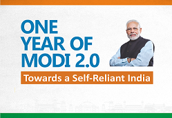 One year of modi 2.0