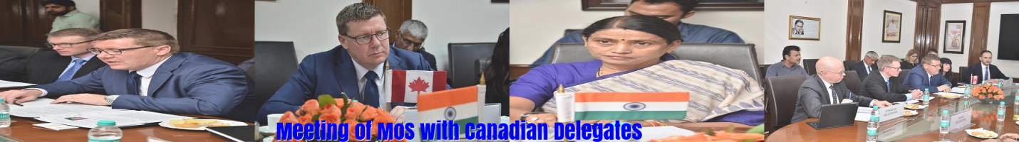 Meeting of MoS with Canadian Delegates